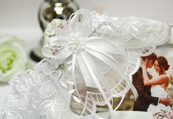 Подвязка для невесты Клаудия (белый)