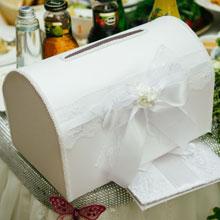 Копилка на свадьбу Изысканные розы (большой) (белый)