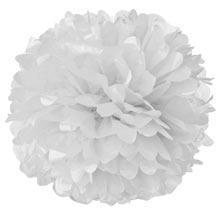 Помпоны из бумаги (35 см, 1 шт) (белый)