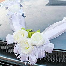 Красивая лента на машину Очарование (белый)