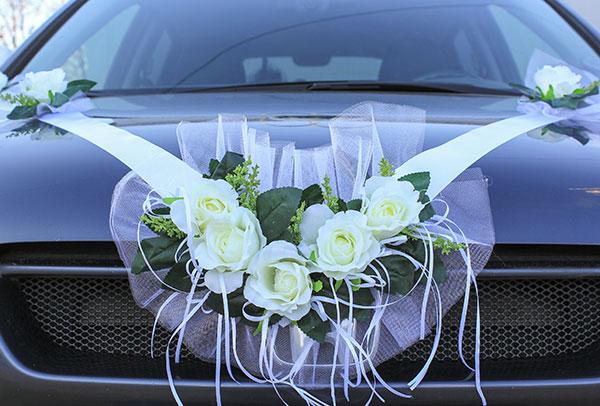Лента на машину Свадебная мечта (белый)