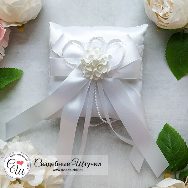 Подушечка для колец Romantic (белый)