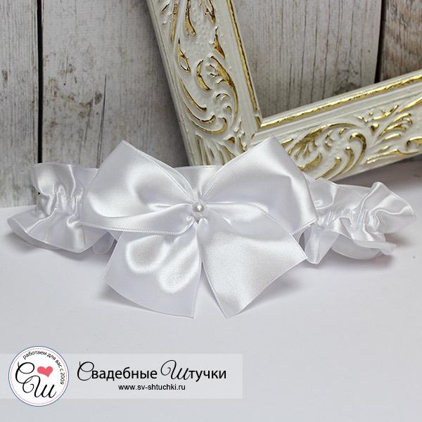 Подвязка невесты на ногу Paradise (белый)