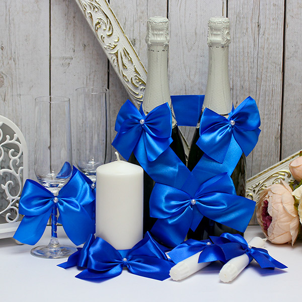 Набор свадебных аксессуаров Paradise (синий)
