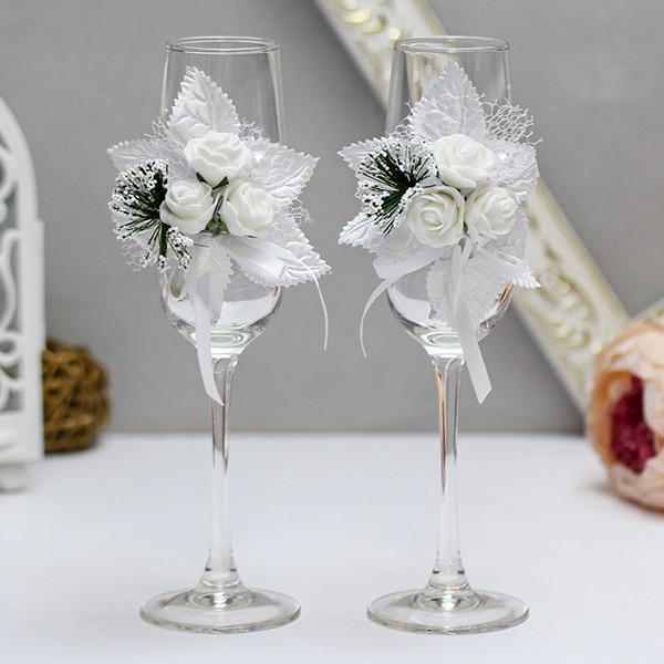 """Свадебные бокалы """"Букетик"""""""