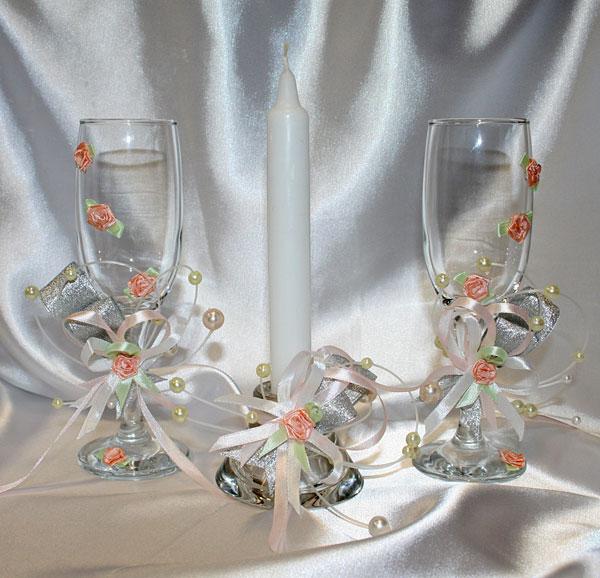 "Набор (3) ""Сокраменто"" (бокалы + свеча)"