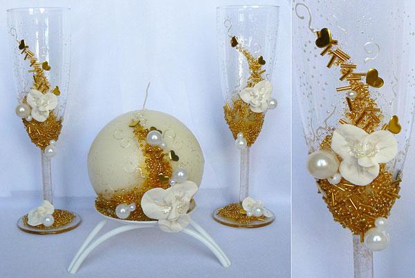 """Набор (3) """"Санта Фэ"""" (бокалы + свеча)"""