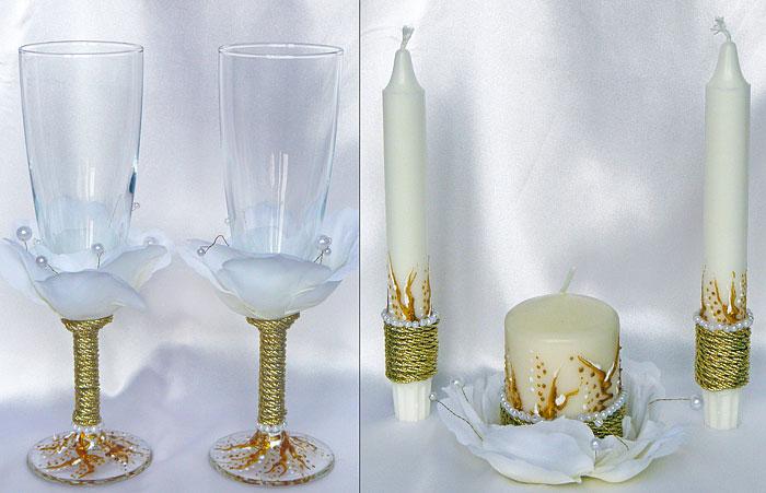 "Набор (5) ""Инспиринг"" (бокалы + 3 свечи)"