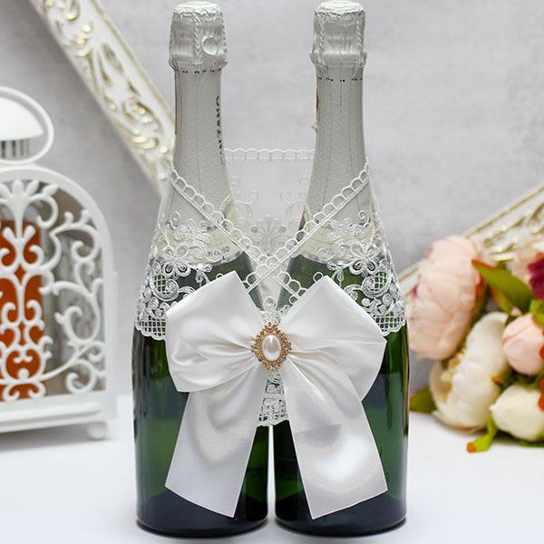 Украшение для шампанского Винтажный шик (айвори)