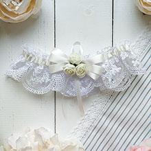 Подвязка для невесты Розанна (айвори)