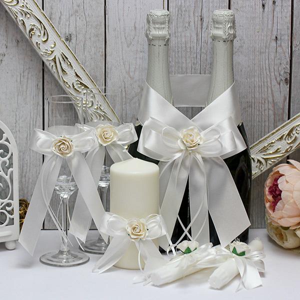 Комплект аксессуаров для свадьбы Эстэль (айвори)
