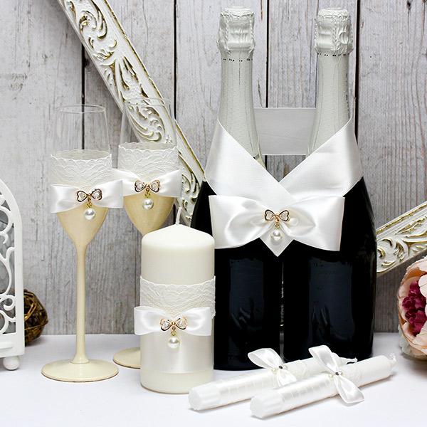 Комплект аксессуаров для свадьбы Ice cream (айвори)