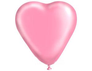 Воздушный шар - сердце (40 см) (розовое)
