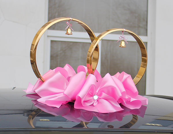 Кольца на крышу свадебной машины Миледи (розовый)