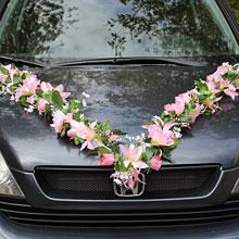 Лента на свадебный автомобиль Цветочная фантазия (розовый)