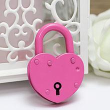 Замочек-сердце маленький (розовый)