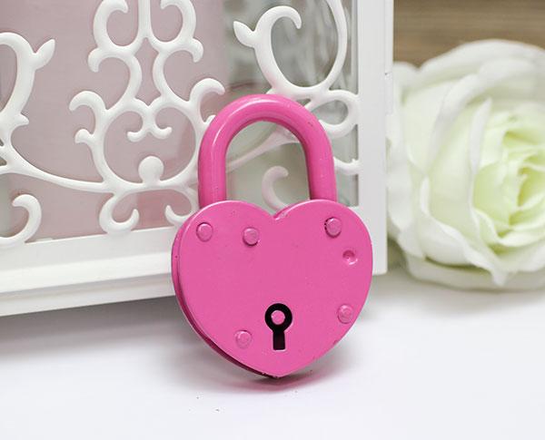Замочек-сердце маленький (розовый) (маленький)