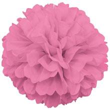 Помпоны из бумаги (35 см, 1 шт) (розовый)