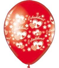"""Свадебный шар с рисунком """"С любовью"""" (36 см, красный)"""