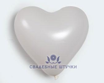 Шар Сердце белое - большой (63 см)