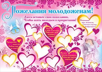 Плакат с поздравлением на свадьбу своими руками