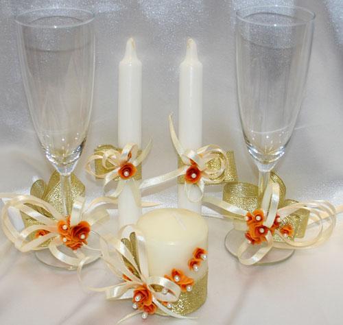 "Набор (5) ""Аристократ"" (бокалы + 3 свечи)"