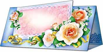 """Рассадочная карточка """"Розы"""""""