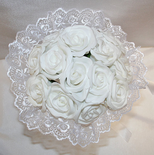 """Свадебный букет невесты """"Дрим"""" (белые цветы)"""