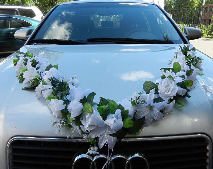 """Лента на свадебный автомобиль """"Цветочная фантазия"""""""