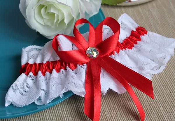 Подвязка для невесты Медея (красный)