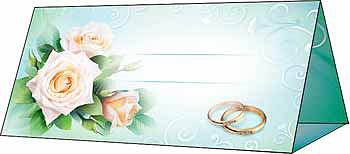 """Рассадочная карточка """"Розы и кольца"""""""