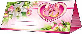 """Рассадочная карточка """"Сердце и лилии"""""""