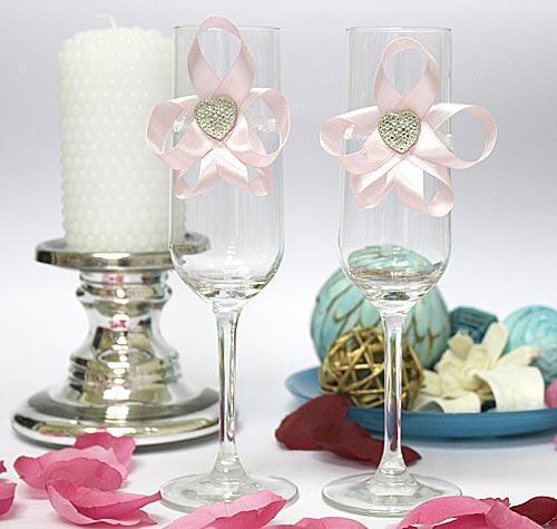 Украшение для бокалов Мармелад (розовый)