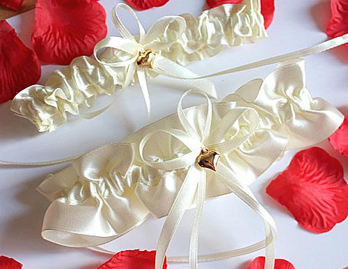 Свадебные подвязки для невесты Женевьева ( 2 шт.) (лимонный)