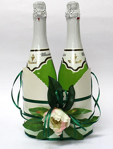 Подставки для шампанского на свадьбу своими руками
