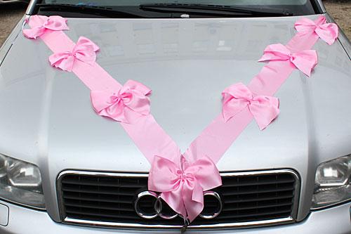 Свадебные банты на машину из ленточек