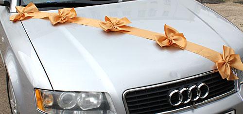 Автомобильные ленты на свадьбу Миледи (1 луч) (золотой)