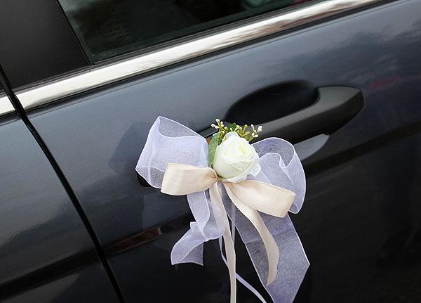 Украшение на ручки Свадебная мечта (2 шт.) (белый)