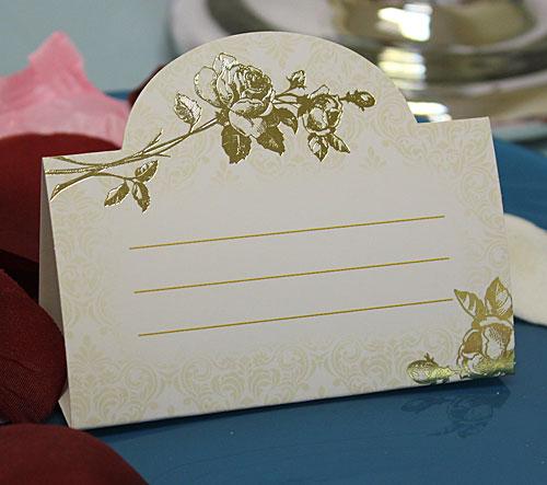 """Рассадочная  карточка """"Золотые цветы"""""""
