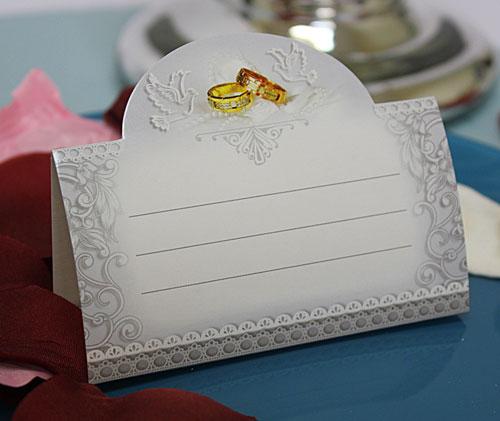 """Рассадочные  карточки для гостей на свадьбу """"Классика"""""""