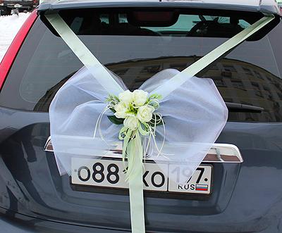 Бант на багажник свадебной машины своими руками