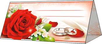 """Рассадочная  карточка """"Прекрасные розы"""""""