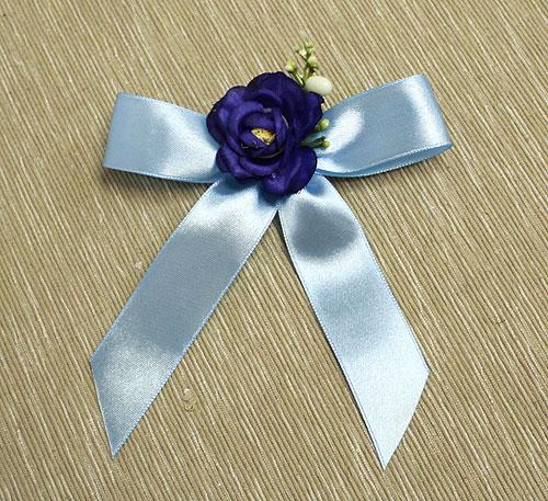 Брошки для свидетелей из цветов Оника (синий)