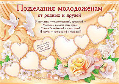 Красивые поздравления на свадьбу от друга