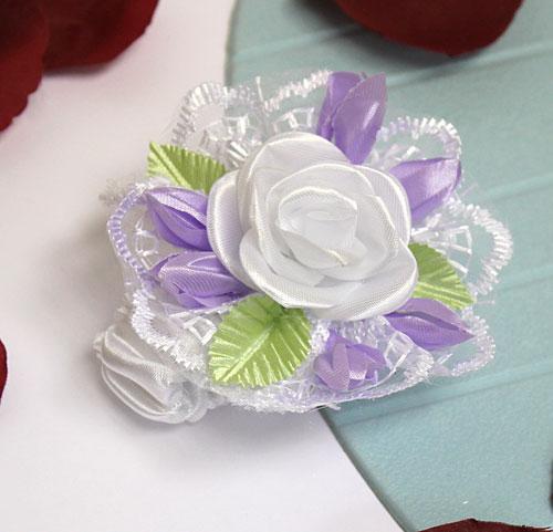 """Свадебный браслет для подружек невесты """"Роза"""" (сиреневый)"""