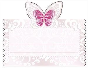 """Рассадочная  карточка для гостей """"Бабочка"""""""