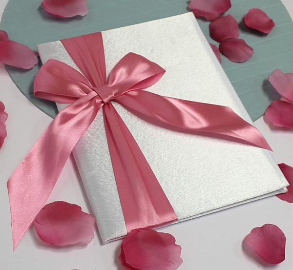 Свадебная папка о браке Paradise для свидетельства (формат А4) (розовый)