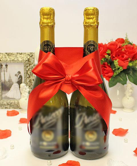 Украшение для шампанского Бант (красный)