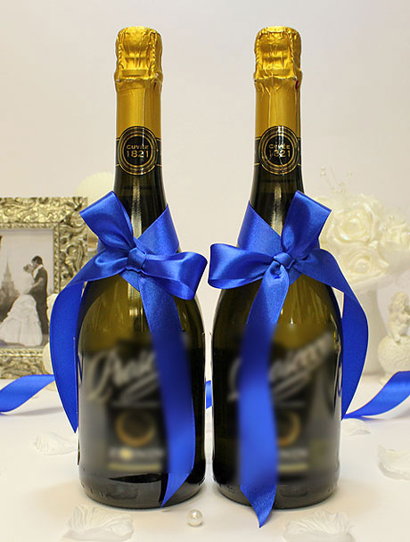Украшение для шампанского Бантик (синий)