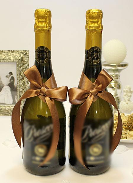 Украшение для шампанского Бантик (шоколадный)
